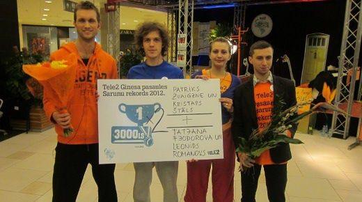 Латвийские абоненты попали в книгу рекордов Гиннесса