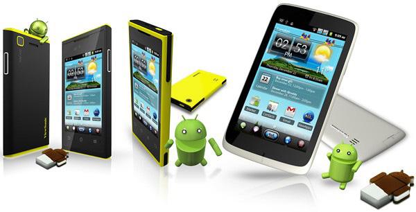 ViewSonic анонсировали несколько смартфонов с Android 4.0 и поддержкой двух SIM-карт