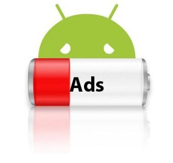Реклама в приложениях намного быстрее разряжает аккумуляторы