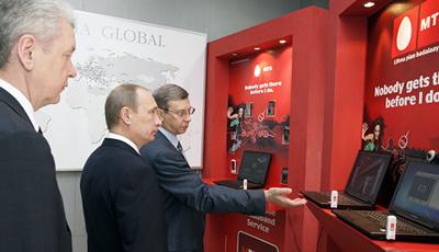 Путин прилетел за МТС?