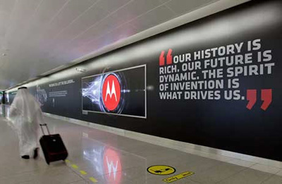 Motorola открыла самый длинный рекламный стенд в мире
